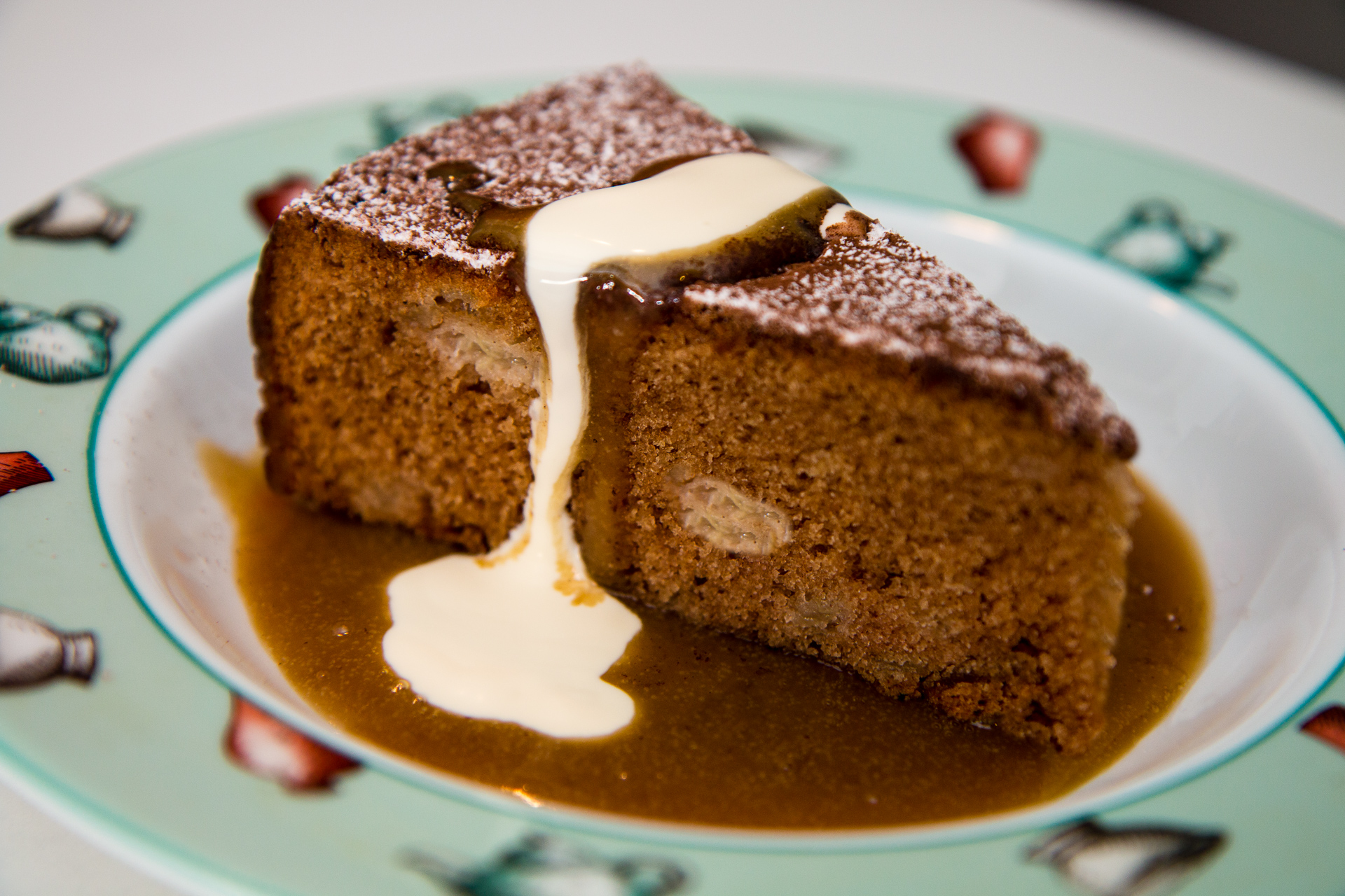 Packham Pear Cake with Butterscotch Sauce - Cheffing Around recipe of the month